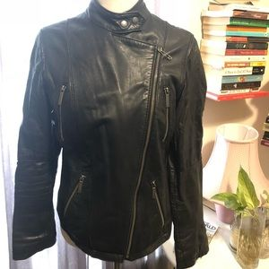 Michael Kors genuine leather motorcycle jacket M